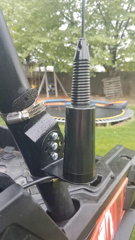 Swivel mount NMO antenna on Can Am