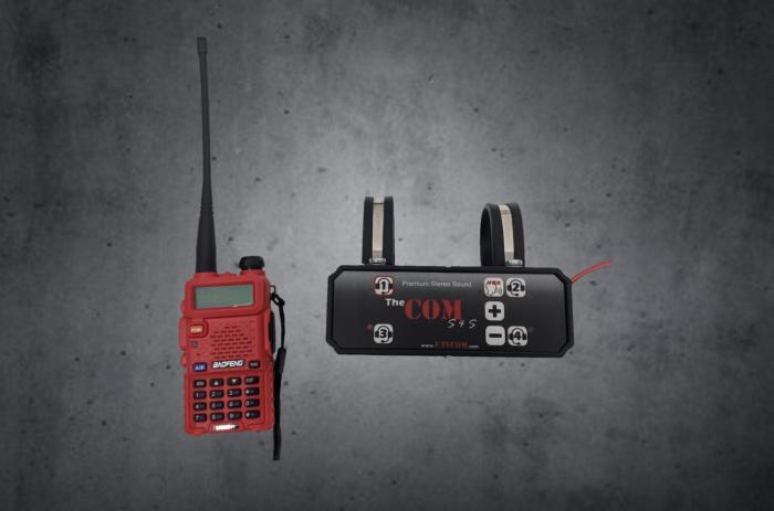 Stereo sound bar kit with 5 watt radio