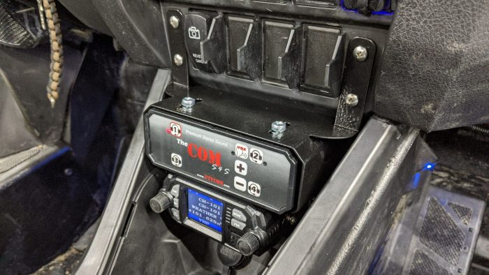 Side profile COM stereo intercom